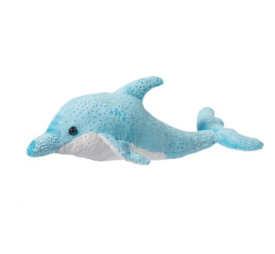 fluffy dolphin toy stuffy